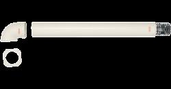 Комплект коаксиального дымохода с оголовком, горизонтальный, с защитой от замерзания Ø 60/100 мм, 3.01821