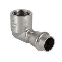 Угольник 90° вн.р. нерж. сталь 22х3/4 Valtec