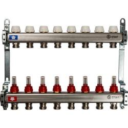Коллектор STOUT из нержавеющей стали с расходомерами 8 выходов