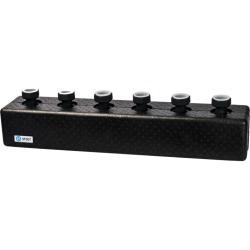 SDG-0016-004003 STOUT Стальной распределительный коллектор 3 отопительных контура. В теплоизоляции DN 25
