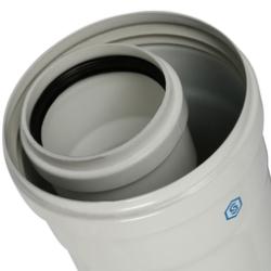 Элемент дымохода конденсац. STOUT труба 2000 мм DN60/100 м/п PP-FE