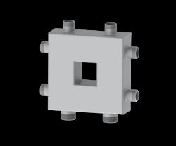 Разделитель гидравлический совмещенный с коллектором  Север-Компакт+ Aisi