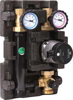 Насоснo-смесительный модуль (ECO2) MK DN 25 с насосом Grundfos  Alpha2L 25-60 со смесителем