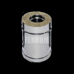 Сэндвич Ferrum 0,25м (430/0,8 мм + оц.) ф110х200
