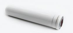 Удлиннение дымохода коаксиальное Ф60/100 L=500,внутренний Ф60мм-ПП,внешний Ф100 мм-АЛ, CE6-LN-0.5, SAMRISE