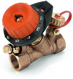 """750408Балансировочный клапан Comap 750 с 1 измерительным ниппелем и с 1 дренажом 1"""" DN25 0,17-8,52"""