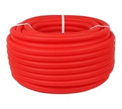 Труба гофрированная ПНД STOUT,цвет красный, наружным диам. 25 мм для труб д. 16-22 мм