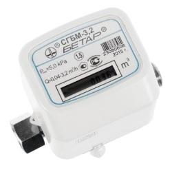 Счетчик газа СГБМ-4,0 с термокоррекцией одной накидной гайкой (3/4) 2020г.